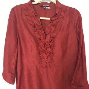 Vtg Classiques  Entier Linen silk blend blouse